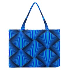 Abstract Waves Motion Psychedelic Zipper Medium Tote Bag