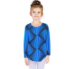 Abstract Waves Motion Psychedelic Kids  Long Sleeve Tee