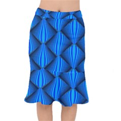 Abstract Waves Motion Psychedelic Mermaid Skirt