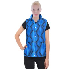 Abstract Waves Motion Psychedelic Women s Button Up Vest