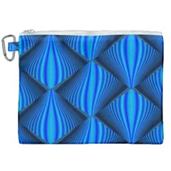 Abstract Waves Motion Psychedelic Canvas Cosmetic Bag (xxl) by Nexatart