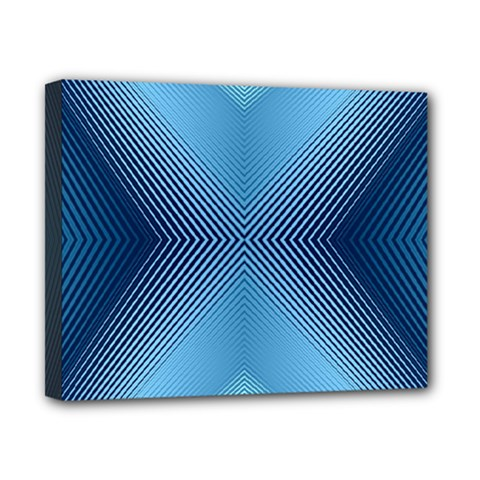 Converging Lines Blue Shades Glow Canvas 10  X 8