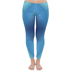 Converging Lines Blue Shades Glow Classic Winter Leggings by Nexatart