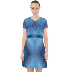 Converging Lines Blue Shades Glow Adorable In Chiffon Dress