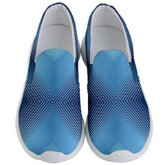Converging Lines Blue Shades Glow Men s Lightweight Slip Ons