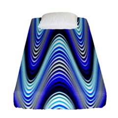 Waves Wavy Blue Pale Cobalt Navy Fitted Sheet (single Size)