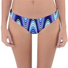 Waves Wavy Blue Pale Cobalt Navy Reversible Hipster Bikini Bottoms