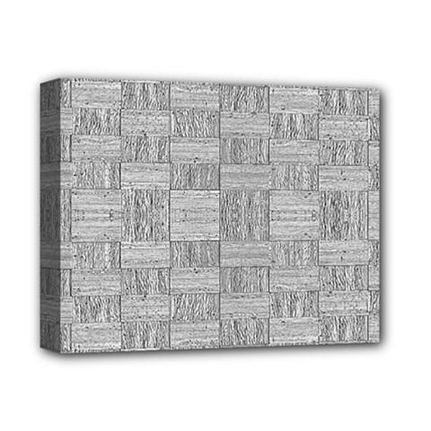 Texture Wood Grain Grey Gray Deluxe Canvas 14  X 11