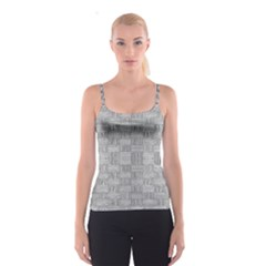 Texture Wood Grain Grey Gray Spaghetti Strap Top