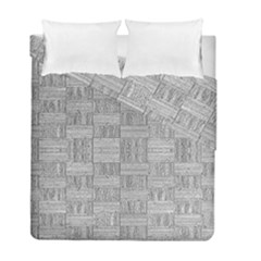 Texture Wood Grain Grey Gray Duvet Cover Double Side (full/ Double Size)
