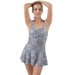 Texture Wood Grain Grey Gray Swimsuit