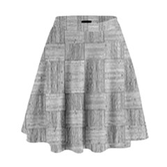 Texture Wood Grain Grey Gray High Waist Skirt