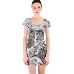 Coquina Shell Limestone Rocks Short Sleeve Bodycon Dress