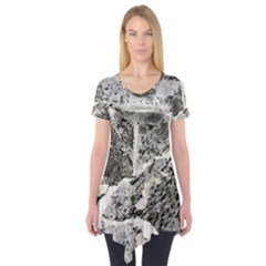 Coquina Shell Limestone Rocks Short Sleeve Tunic
