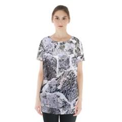 Coquina Shell Limestone Rocks Skirt Hem Sports Top by Nexatart
