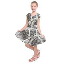 Coquina Shell Limestone Rocks Kids  Short Sleeve Dress