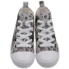 Coquina Shell Limestone Rocks Kid s Mid Top Canvas Sneakers