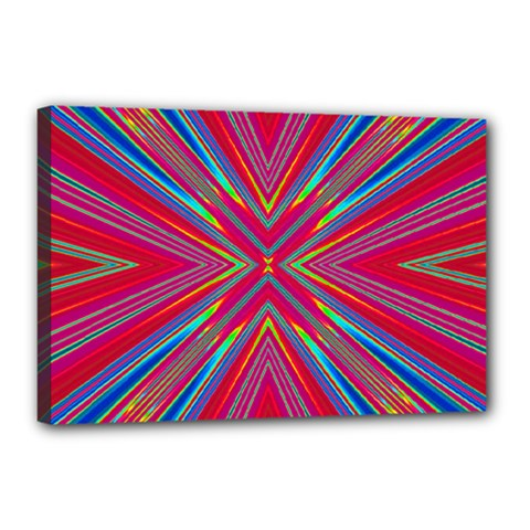 Burst Radiate Glow Vivid Colorful Canvas 18  X 12