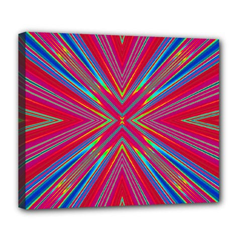 Burst Radiate Glow Vivid Colorful Deluxe Canvas 24  X 20   by Nexatart