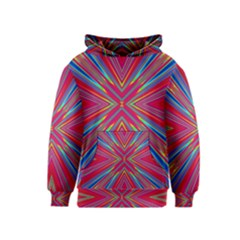 Burst Radiate Glow Vivid Colorful Kids  Pullover Hoodie