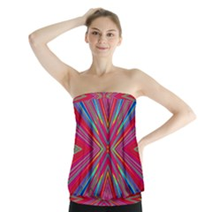 Burst Radiate Glow Vivid Colorful Strapless Top