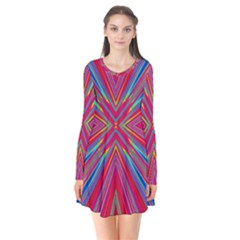 Burst Radiate Glow Vivid Colorful Flare Dress