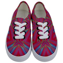 Burst Radiate Glow Vivid Colorful Kids  Classic Low Top Sneakers