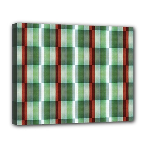 Fabric Textile Texture Green White Deluxe Canvas 20  X 16