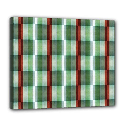 Fabric Textile Texture Green White Deluxe Canvas 24  X 20