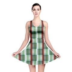 Fabric Textile Texture Green White Reversible Skater Dress