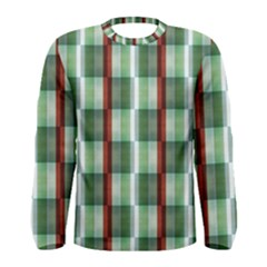 Fabric Textile Texture Green White Men s Long Sleeve Tee