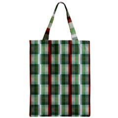 Fabric Textile Texture Green White Zipper Classic Tote Bag