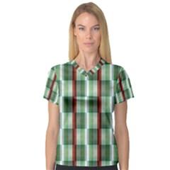Fabric Textile Texture Green White V Neck Sport Mesh Tee