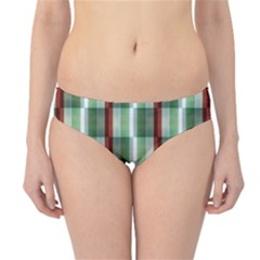 Fabric Textile Texture Green White Hipster Bikini Bottoms