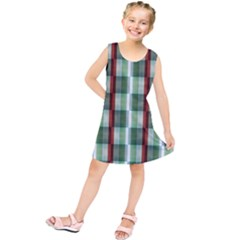 Fabric Textile Texture Green White Kids  Tunic Dress