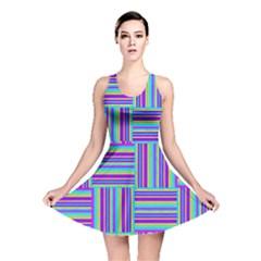 Geometric Textile Texture Surface Reversible Skater Dress