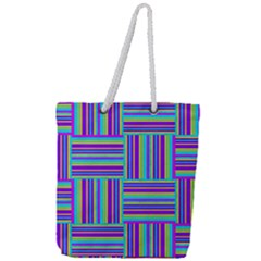 Geometric Textile Texture Surface Full Print Rope Handle Tote (large)