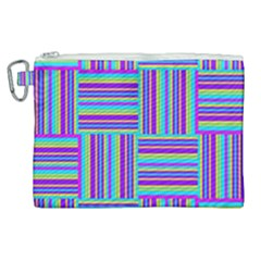 Geometric Textile Texture Surface Canvas Cosmetic Bag (xl) by Nexatart