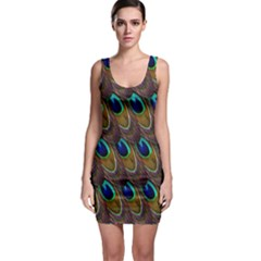 Peacock Feathers Bird Plumage Bodycon Dress