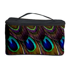 Peacock Feathers Bird Plumage Cosmetic Storage Case