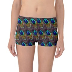 Peacock Feathers Bird Plumage Boyleg Bikini Bottoms