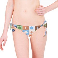 Fabric Textile Textures Cubes Bikini Bottom