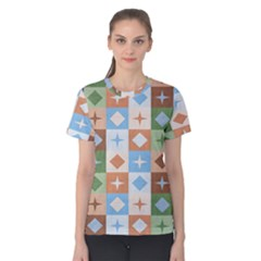 Fabric Textile Textures Cubes Women s Cotton Tee