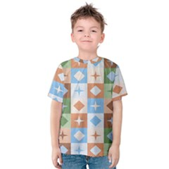 Fabric Textile Textures Cubes Kids  Cotton Tee