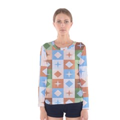 Fabric Textile Textures Cubes Women s Long Sleeve Tee