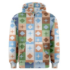 Fabric Textile Textures Cubes Men s Zipper Hoodie
