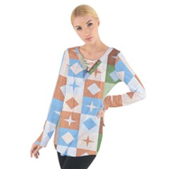 Fabric Textile Textures Cubes Tie Up Tee