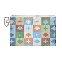 Fabric Textile Textures Cubes Canvas Cosmetic Bag (large) by Nexatart