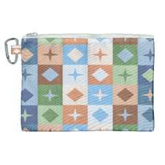 Fabric Textile Textures Cubes Canvas Cosmetic Bag (xl) by Nexatart