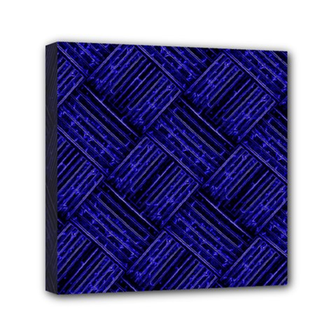 Cobalt Blue Weave Texture Canvas Travel Bag
